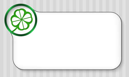 cloverleaf: abstract frame for entering text and cloverleaf