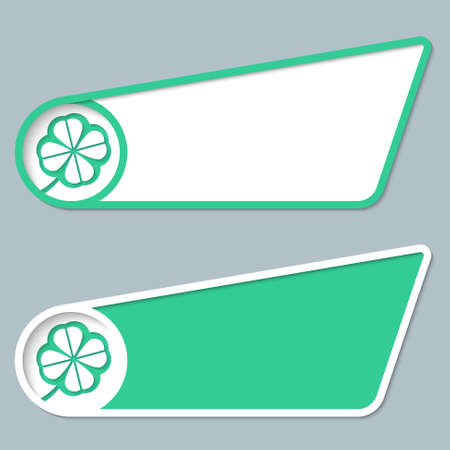 two green boxes for entering text and cloverleaf Vector
