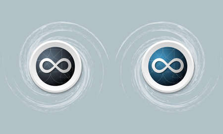 infinity symbol: set of two icon and infinity symbol