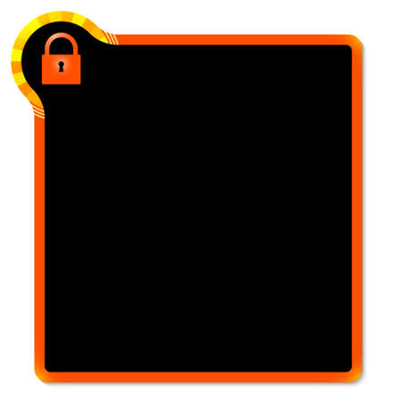 annular: red frame with yellow corner and padlock
