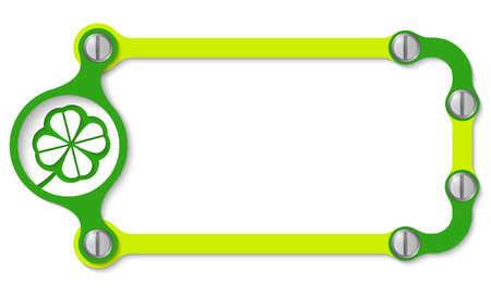 cloverleaf: vector frame with screws and cloverleaf