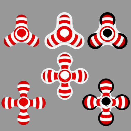 annular: abstract red and white icons and speech bubble Illustration