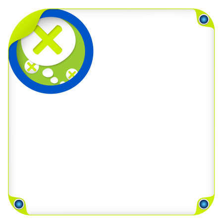 color box for entering text and speech bubble and multiplication symbol Illustration