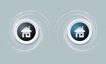 annular: set of two icon and home symbol