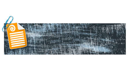 scratches: banner with scratches background and document and spiral Illustration