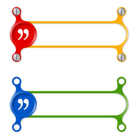 quotation: vector abstract colored frame and quotation mark