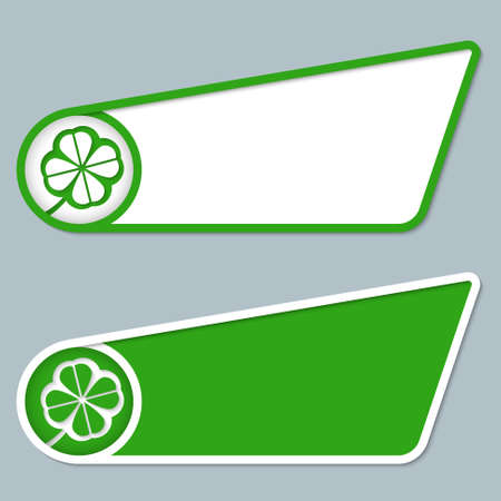 cloverleaf: two green boxes for any text with cloverleaf
