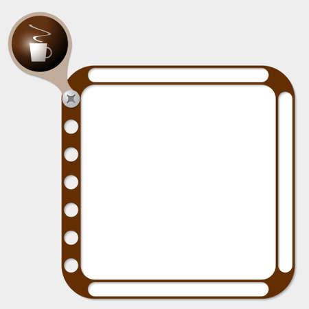entracte: cadre perfor� pour tout texte et tasse de caf� Illustration