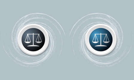 annular: set of two icon and law symbol