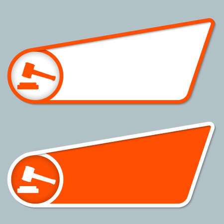 two orange boxes for any text with law symbol