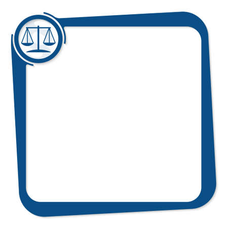 vector box for any text with law symbol Illustration