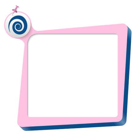 blue spiral: pink text box and blue spiral Illustration