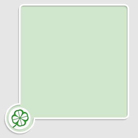 cloverleaf: vector green text box with cloverleaf Illustration
