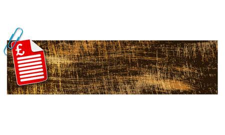 libra esterlina: banner con ara�azos antecedentes y documentos y la libra esterlina s�mbolo Vectores