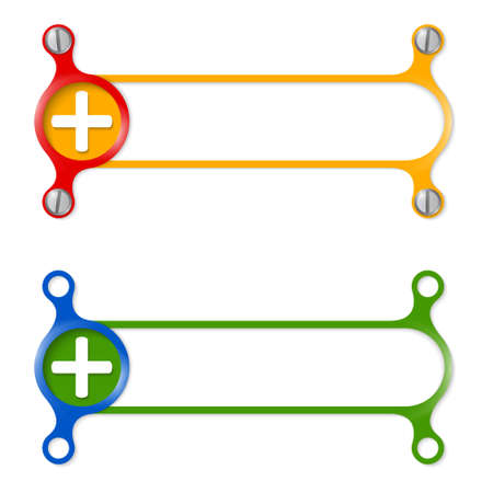 plus symbol: vector abstract colored frame and plus symbol