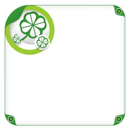 cloverleaf: color box for entering text and cloverleaf