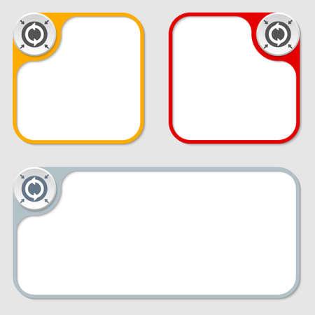 annular: set of three vector frames and arrows Illustration