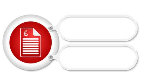 libra esterlina: marcos blancos y documento icono y s�mbolo de la libra esterlina Vectores