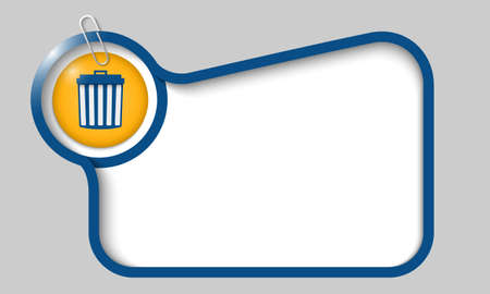 space rubbish: vector text box for any text with trashcan and paper clip Illustration
