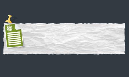 cloverleaf: banner with crumpled paper and cloverleaf