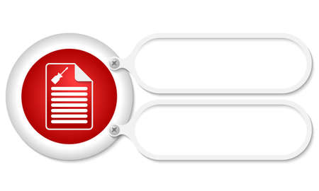 service sphere support web: white frames and document icon and screwdriver Illustration