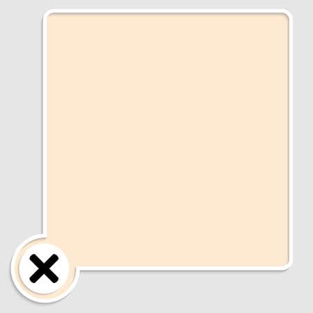 multiplicaci�n: vector cuadro de texto amarillo y s�mbolo de multiplicaci�n Vectores