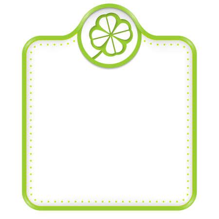 cloverleaf: green frame for your text and cloverleaf