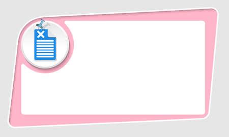 multiplicaci�n: vector caja de color rosa abstracta y pasador y s�mbolo de multiplicaci�n