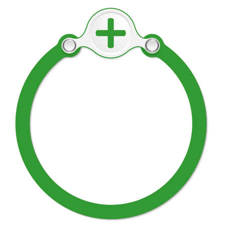 plus symbol: circular frame for your text and plus symbol Illustration