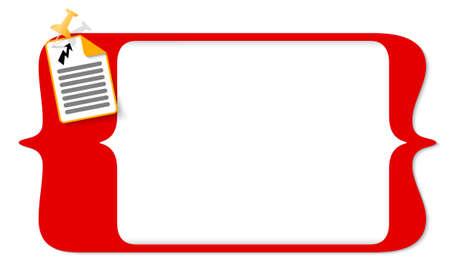 corchetes vector para ingresar texto y el icono de documento y el flash Ilustración de vector