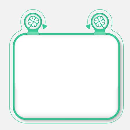 cloverleaf: Text frame for your text and cloverleaf Illustration