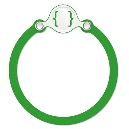 annular: circular frame for your text and square brackets