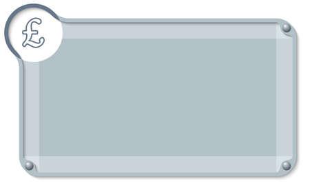 libra esterlina: cuadro de texto abstracta para el texto y la libra esterlina s�mbolo