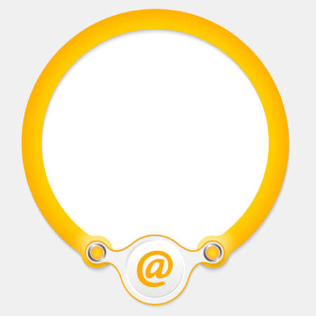 annular: Yellow circular frame for your text and email icon