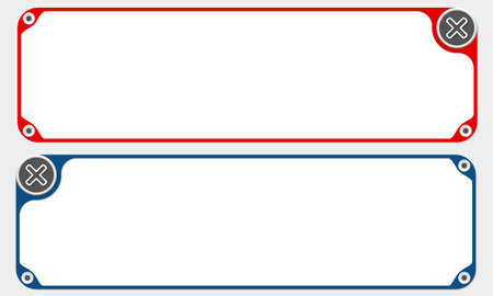 multiplicaci�n: Dos marcos de vectores para su texto y simple s�mbolo de multiplicaci�n