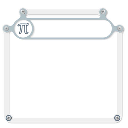 headline: Gray frame for headline and pi symbol