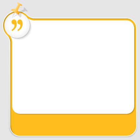 yellow pushpin: yellow text box with pushpin and quotation mark