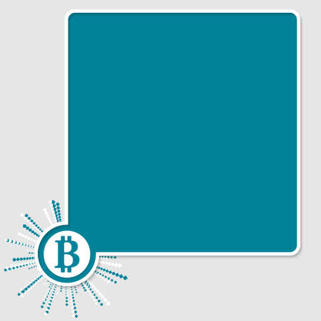 bit: vector colored text box and bit coin symbol