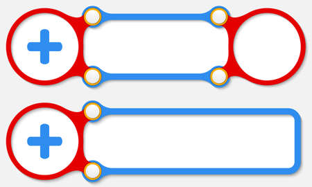 plus symbol: Two vector abstract frames for your text and plus symbol