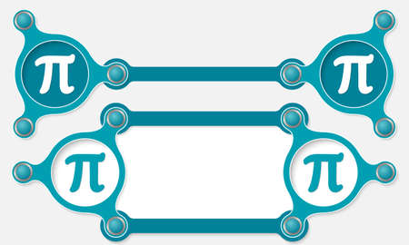 Two Vector Abstract Text Boxes For Your Text And Pi Symbol Royalty