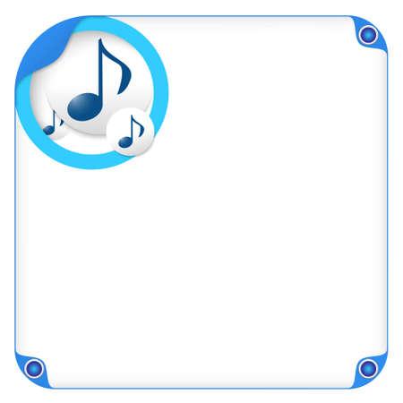 bordure de page: boîte de couleur pour la saisie de texte et de la musique symbole