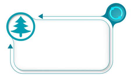 baum symbol: Rahmen f�r Ihren Text mit Pfeilen und Baum-Symbol