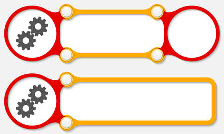 sprockets: Two vector abstract frames for your text and cogwheels