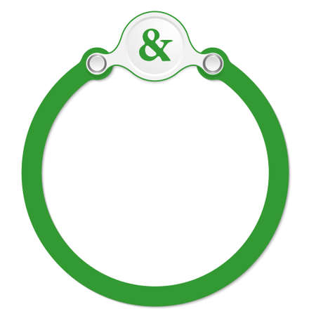 wor: circular frame for your text and ampersand Illustration