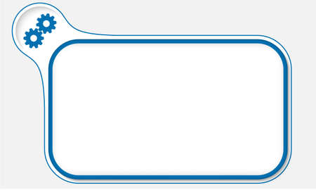 annular: Blue frame for your text and coqwheels Illustration