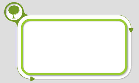 broad: Green box for your text and tree icon