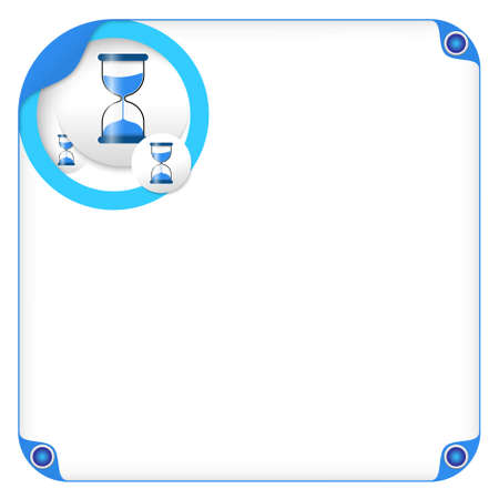 sand glass: color box for entering text and sand glass Illustration