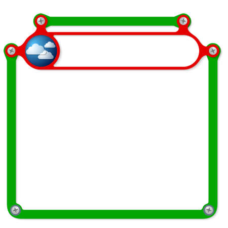 headline: Red frame for headline and forecast icon