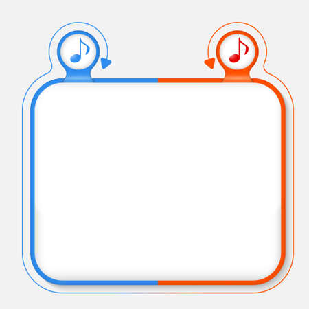Abstract frame for your text and music icon