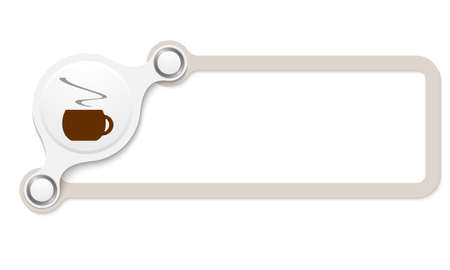 intermission: Vector brown box for your text and cup of coffee Illustration